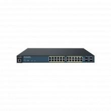Ews120028tfp Engenius Switch PoE Administrable De 24 Puertos
