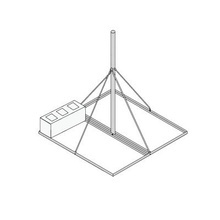 Frm125 Rohn Montaje No Penetrante De Techo Con Mastil Pregal