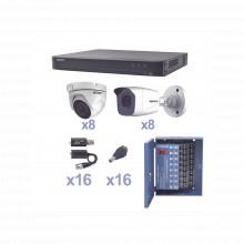 Kevtx8t8b8ew Epcom KIT TurboHD 1080p / DVR 16 Canales / 8 Ca