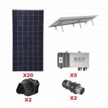 Kit10bdm600lv127 Epcom Kit Solar Para Interconexion De 5.5 K