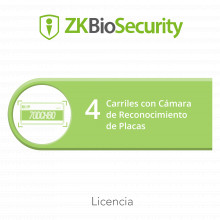 Zkbsparklpr4 Zkteco Licencia Para ZKBiosecurity Para Modulo