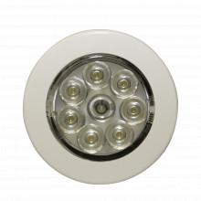 Ew0220 Ecco Mini Luz De Cortesia Circular Con Bisel Blanco D