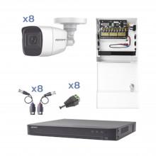 Kevtx8t8bga Epcom KIT TurboHD Con Audio 1080p / DVR 8 Canale