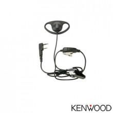 Khs27 Kenwood Microfono De Solapa Con Audifono Y Montaje De