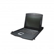 Kvm21008m Planet Monitor Con Teclado Y Trackpad KVM Para Rac