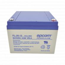 Pl2612 Epcom Powerline Bateria Con Tecnologia AGM/VRLA 26 A