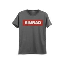 Plasimsm Simrad Playera Gris Talla Chica Con Logo De SIMRAD.