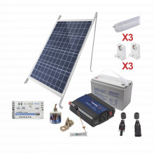 Pvt8light3 Epcom Powerline Kit Solar Para Iluminacion Basica