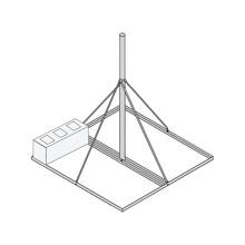 Rohn Frm225 Montaje De Techo Con Mastil Galvanizado Por Inme
