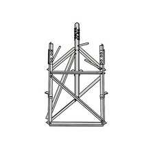 Rsb09 Rohn Base Corta Para Seccion 9 Para Torres Autosoporta