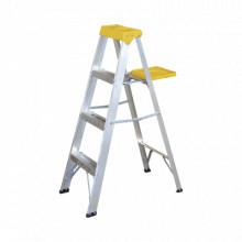 SYSET3 Surtek Escalera de aluminio tipo tijera de 3 peldano