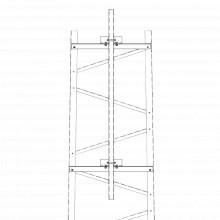 Trytfm6 Trylon Brazo Para Seccion 6 Torre Titan Con Herraje
