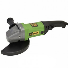 Polizor unghiular (flex) ProCraft PW2150 Germania, 2150 W, 7500 RPM, 180 MM, verde-negru