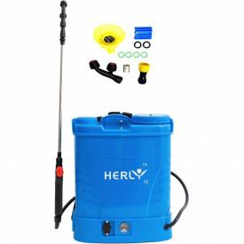 GF-1517 Pompa stropit cu acumulator, 12V 8Ah, capacitate 12L HERLY (ALBASTRA)