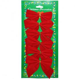 Set 6 fundite rosii pentru brad de craciun