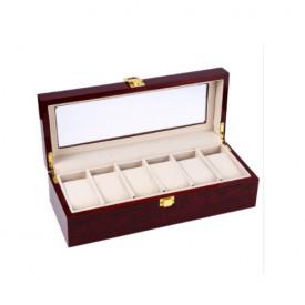 Cutie eleganta din lemn pentru 6 ceasuri