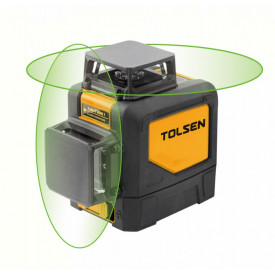 Nivela laser cu linie incrucisata orizontala la 360°, cu nivel de fascicul verde, ± 0.3 mm/m, 30 m (Industrial)
