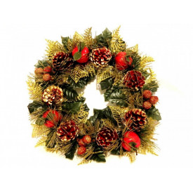 Coronita pentru craciun model Christmas Greetings