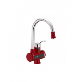 Robinet electric, instant pentru apa calda, cu display digital, 3 Kw, MIXXUS Electra 240-E Red