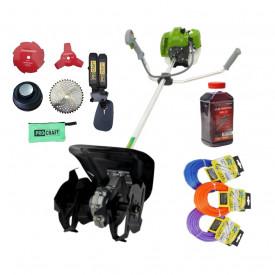 Set Cultivator + Motocoasa ProCraft Germany T4350, 6CP, 58CC + accesorii