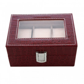Cutie visinie, pentru 3 ceasuri, cu imprimeu crocodil
