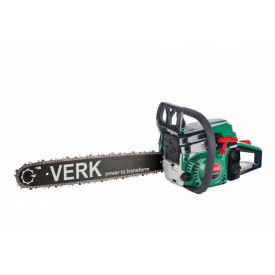 Drujba cu lant cu motor pe benzina Verk VCS6000A, pornire usoara, 58 cmc, 5 CP, 45 cm