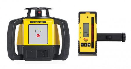 Nivela Laser Rotativa Leica Rugby 610 receptor Rod Eye 160 Digital