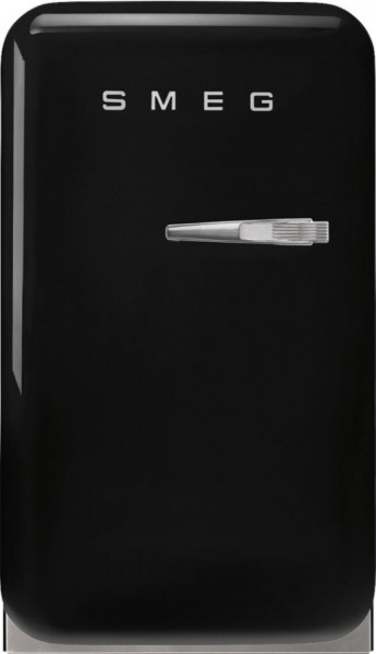 Frigider cu 1 ușă, retro, 50's Style, 73 cm, 34 l, negru, balamale în stânga, Smeg FAB5LBL5
