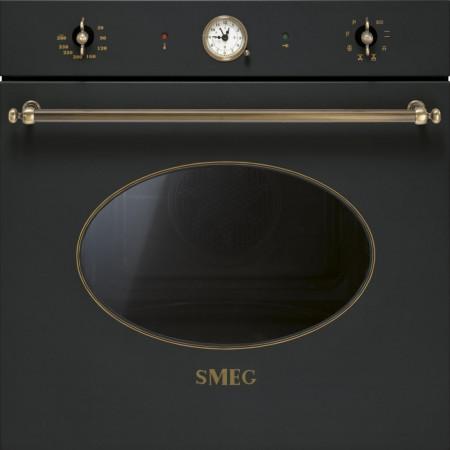 Cuptor încorporabil electric, Colonial, antracit, retro, curățare pirolitică, Smeg SFP805AO