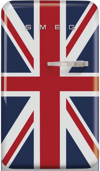 Frigider cu 1 ușă, cu congelator, retro, 50's Style, 97 cm, 105/17 l, union jack, balamale în stânga, Smeg FAB10LDUJ5
