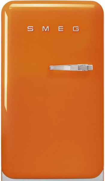 Frigider cu 1 ușă, cu congelator, retro, 50's Style, 97 cm, 105/17 l, portocaliu, balamale în stânga, Smeg FAB10LOR5