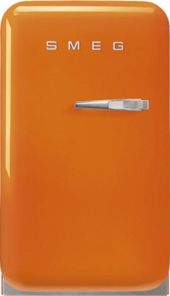 Frigider cu 1 ușă, retro, 50's Style, 73 cm, 34 l, portocaliu, balamale în stânga, Smeg FAB5LOR5