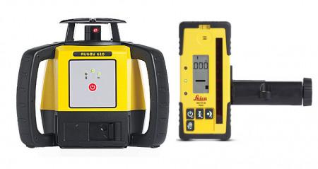 Nivela Laser Rotativa Leica Rugby 610 receptor Rod Eye 120 Basic