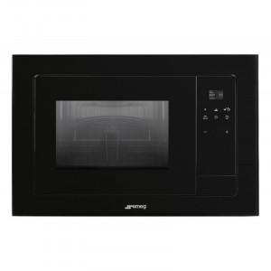 Cuptor încorporabil cu microunde, Linea, grill, 60 cm, negru, Smeg FMI120N2