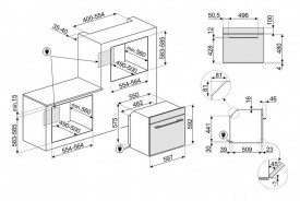 Cuptor încorporabil electric,  Linea Cuptor, 60 cm, negru, Smeg SF6100VN1
