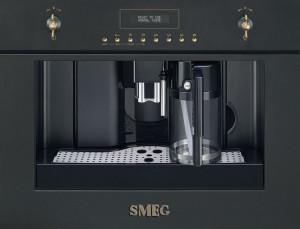 Espressor încorporabil, retro, Colonial/Cortina, antracit, Smeg CMS8451A