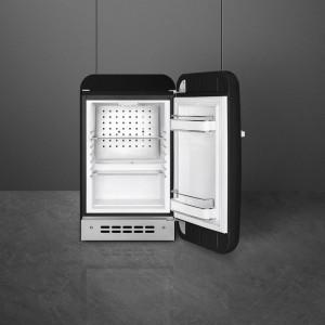 Frigider cu 1 ușă, retro, 50's Style, 73 cm, 34 l, negru, balamale în dreapta, Smeg FAB5RBL5