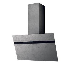 Hotă de perete, efect zinc, 90 cm, 755 mc/h, Elica STRIPE URBAN CAST ZINC/A/90
