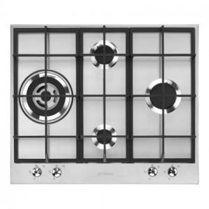 Plita incorporabila pe gaz, Linea, 60 cm, inox, Wok, Smeg PX364L