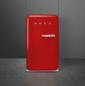 Frigider cu 1 ușă, retro, 50's Style, 97 cm, 135 l, roșu, balamale în stânga, Smeg FAB10HLRD5