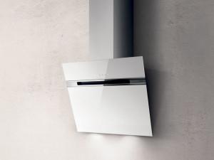 Hotă de perete, 60 cm, sticlă albă, 757 mc/h, Elica STRIPE WH/A/60/LX