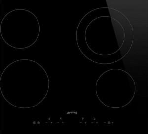Plită încorporabilă electrică, 4 zone de gătit, 9 nivele de putere, sticlă neagră, Smeg SE364ETD