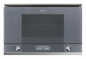 Cuptor încorporabil cu microunde, Linea, grill, 60 cm, silver glass, Smeg MP122S1