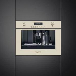 Expresor încorporabil, retro, Colonial/Cortina, crem, Smeg CMS8451P