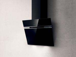Hotă de perete, 60 cm, sticlă neagră, 757 mc/h, Elica STRIPE BL/A/60/LX