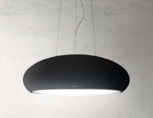 Hotă suspendată, decorativă, cu recirculare, negru, 400 mc/h, Elica SEASHELL BL/F/80