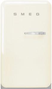 Frigider cu 1 ușă, cu congelator, retro, 50's Style, 97 cm, 105/17 l, smântână, balamale în stânga, Smeg FAB10LCR5