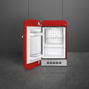 Frigider cu 1 ușă, retro, 50's Style, 73 cm, 34 l, roșu, balamale în stânga, Smeg FAB5LRD5