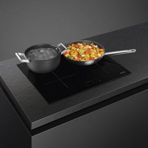 Plită încorporabilă cu inducție,60 cm, ceramică neagră, SmegSI2641D