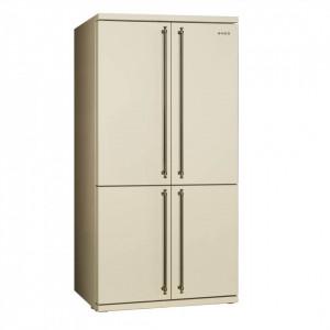 Combină frigorifică, retro, 90 cm, crem, clasa A+, No Frost, Smeg FQ60CPO5